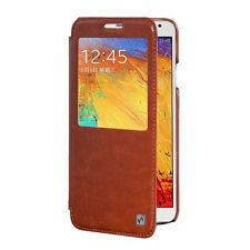 GENUINE HOCO SAMSUNG GALAXY NOTE 3 LEATHER CRYSTAL VIEW SERIES COVER FLIP CASE
