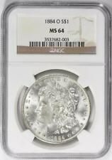 1884-O Morgan Silver Dollar - NGC MS-64 - Certified Mint State 64