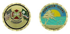 "ARMY USAKA KWAJALEIN ISLAND ATOLL 1.75"" CHALLENGE COIN"