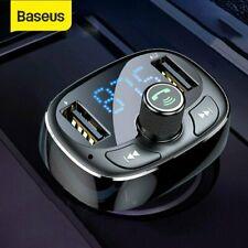 Baseus KFZ Bluetooth FM Transmitter Auto MP3 Player TF 2 USB Ladegerät Adapter