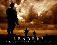 Military Motivational Poster Art Print Marines Army Sniper Wall Decor Leaders