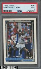 1992-93 Topps #362 Shaquille O'Neal Magic RC Rookie HOF PSA 9 MINT