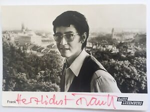Frank Elsner signiert Film TV Karte ORIGINAL Unterschrift Signatur Autogramm