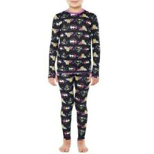 Girls DC Comics Super Girls 2pc Pajamas Long Underwear Set Size 7/8 New with Tag