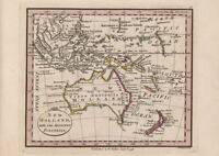 Map of New Holland, with the Adjacent Polynesia, 1798. Historical Print/Poster