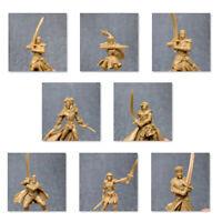 Lot 8Pcs 28mm GOLD D&D Dungeons & Dragon Marvelous Miniatures War Game Figures