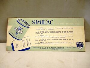 Antique Similac A Food For Infants Advertising Sample Card Blotter Paper Americ""