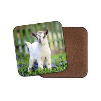 Cute Baby Goat Drinks Coaster - Kid Animal Lamb Garden Mum Fun Cool Gift #8565