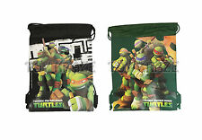 "Teenage Mutant Ninja Turtles Drawstring Bag! School Tote Travel Gym 12-14"" New"