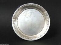 1971 Vintage Antique Etched Sterling Silver 800 Plate Jewish Judaica Israel