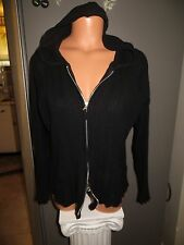 Woman's Faded Glory Size L (12 - 14) hooded sweater. Black.
