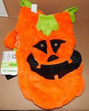 "Halloween Pet Costume Pumpkin Light Up Eyes L Fits 18"" To 21"" Dog Belly Ext 71M"
