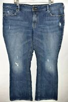 Silver Jeans Aiko Bootcut Womens Medium Wash Size 22x31 Distressed Meas. 43x31