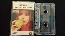 "SAXON "" INNOCENCE IS NO EXCUSE"" CASSETTE TAPE"