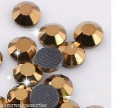 5mm Great Quality Hot Fix/Iron On Mine Gold Flatback HOTFIX SS20