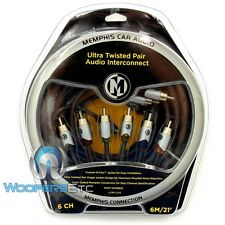 MEMPHIS UTPF-21.6 21 FEET 6 CHANNEL ULTRA TWISTED RCA AUDIO AMPLIFIER CABLE WIRE