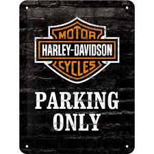 Harley Davidson Parking only Motorcycle Vintage Parking Sign Metal Sign 15x20cm