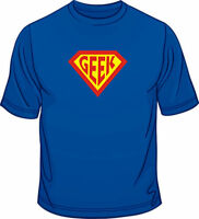 Super Geek Funny Geek Nerd Funny Mens Loose Fit Cotton T-Shirt