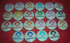 """OK JIMMY MONKEY LOT OF 22 BUTTONS EACH IS 3/4"""" WIDE PARTY FAVORS"""
