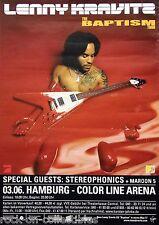 Lenny Kravitz 2004 The Baptism Tour European Concert Poster Hamburg, Germany