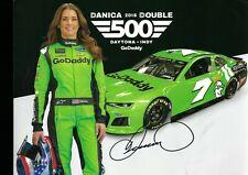 NASCAR SUPERSTAR DANICA PATRICK AUTOGRAPHED POSTCARD W/ COA