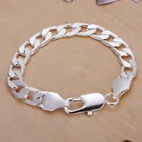 Top sale 925 sterling silver Fashion cute nice men solid chain Bracelet Jewelry