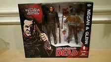 SDCC 2016 Skybound Exclusive Walking Dead Glenn & Negan Color Bloody Figures set