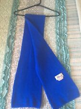 Baltman and Company fifth avenue new york blue angora and wool scarf