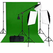 10 x 10 ft.Chromakey Green Muslin Video 2000W  Light Lighting Kit