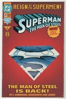 Superman: The Man of Steel #22 [Die-Cut Cover] (Jun 1993, DC) Reign Supermen vj