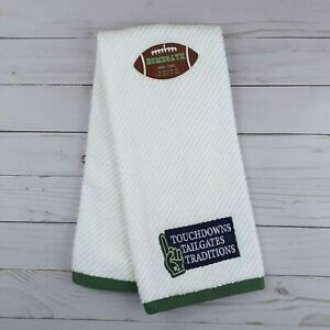 Guest Hand Towel Football Touchdowns Tailgates Traditions Terry Cloth