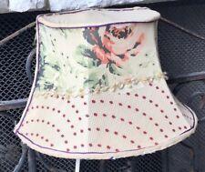 Vintage ROSES Polka Dots Antique Hanging Bed Lamp *BEAUTIFUL*