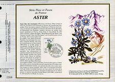 DOCUMENT CEF PREMIER JOUR 1983  TIMBRE N° 2268 ASTER FLORE