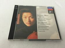KYUNG WHA CHUNG The Great Violin Concertos - 1996 2 CD Set - MINT/EX