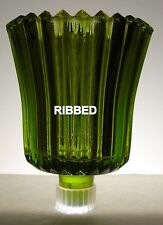 Home Interiors Green Ribbed Votive Cup w/ rubber grommet