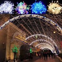 10M 100 LED Lichterkette Batterie Weihnachten Außen Innen Party Kette Leuchte