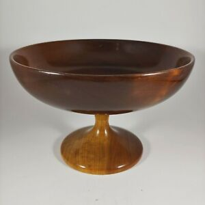 """MYRTLEWOOD 6.5"""" Small Two Tone MCM Serving Bowl / Candy Dish w Raised Pedestal"""