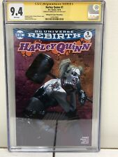 Harley Quinn #1 Pink Variant CGC 9.4 SS Signed By Gabriele Dell'Otto Rare