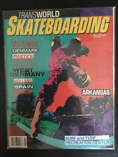 February 1986 Transworld Skateboard Magazine Vintage