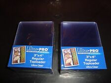Ultra Pro Quantity 50 Trading Card Holders / Rigids / Top Loaders New In Package