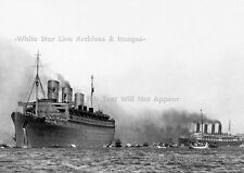 Photo: 5 x 7: Troopship Queen Mary & The RMS Aquitania, WW2