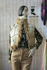 Miss Sixty Lederweste Fell Brown beige Hippie 70er TrueVINTAGE 70s women's veste