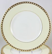 FAB DINNER PLATE(S) VINTAGE MINTON CHINA COMMODORE S112 EMBOSSED GOLD ROPE CREAM
