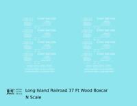 K4 N Decals Long Island Railroad 37 Ft Wood Boxcar White