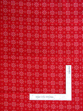 True Red and White Flower Geometric Floral Cotton Fabric Santee - By The Yard
