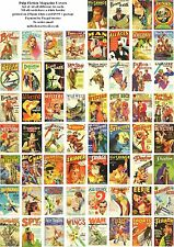 PULP MAGAZINE COVER ART-60 ALL DIFFERENT A6 ARTCARDS