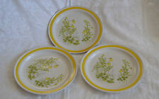 Chadds Ford Stoneware Spring Meadow 3 Dinner Plates Vintage made in Japan