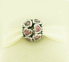 GENUINE PANDORA Silver Sparkling Openwork Heart Charm 791250CZS FREE DELIVERY