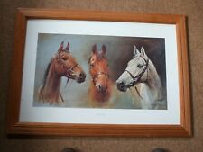 More details for large picture of 3 famous racehorses (arkle, red rum, desert orchid).