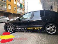 2X Laterales Adhesivas Decal stickers Vinilos Coche Seat Sport Ibiza Toledo Leon